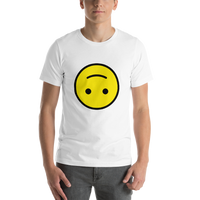 Emoji T-Shirt Store | Upside-Down Face emoji t-shirt in White