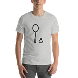 Emoji T-Shirt Store | Badminton emoji t-shirt in Light gray