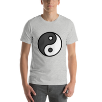 Emoji T-Shirt Store | Yin Yang emoji t-shirt in Light gray