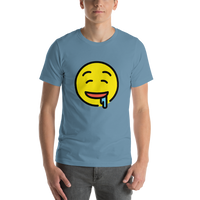 Emoji T-Shirt Store | Drooling Face emoji t-shirt in Blue