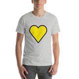 Emoji T-Shirt Store | Yellow Heart emoji t-shirt in Light gray
