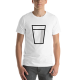 Emoji T-Shirt Store | Glass Of Milk emoji t-shirt in White