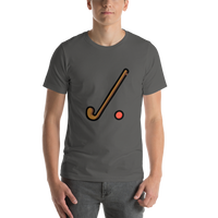 Emoji T-Shirt Store | Field Hockey emoji t-shirt in Dark gray