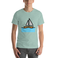 Emoji T-Shirt Store | Sailboat emoji t-shirt in Green