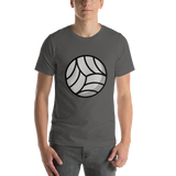 Emoji T-Shirt Store | Volleyball emoji t-shirt in Dark gray