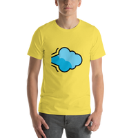 Emoji T-Shirt Store | Dashing Away emoji t-shirt in Yellow
