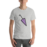 Emoji T-Shirt Store | Closed Umbrella emoji t-shirt in Light gray