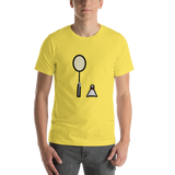Emoji T-Shirt Store | Badminton emoji t-shirt in Yellow