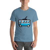 Emoji T-Shirt Store | Trolleybus emoji t-shirt in Blue