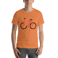 Emoji T-Shirt Store | Bicycle emoji t-shirt in Orange