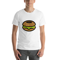 Emoji T-Shirt Store | Bagel emoji t-shirt in White