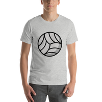 Emoji T-Shirt Store | Volleyball emoji t-shirt in Light gray