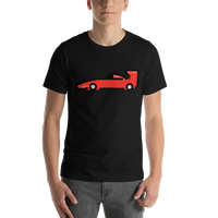 Emoji T-Shirt Store | Racing Car emoji t-shirt in Black