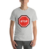 Emoji T-Shirt Store | Stop Sign emoji t-shirt in Light gray