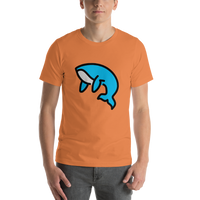 Emoji T-Shirt Store | Whale emoji t-shirt in Orange
