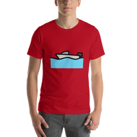 Emoji T-Shirt Store | Motor Boat emoji t-shirt in Red