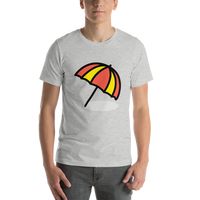Emoji T-Shirt Store | Umbrella On Ground emoji t-shirt in Light gray