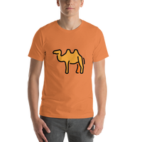 Emoji T-Shirt Store | Two-Hump Camel emoji t-shirt in Orange