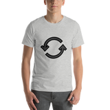 Emoji T-Shirt Store | Counterclockwise Arrows Button emoji t-shirt in Light gray