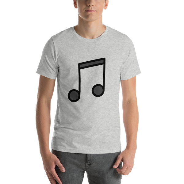 Emoji T-Shirt Store | Musical Note emoji t-shirt in Light gray
