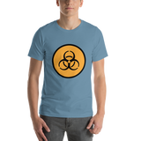 Emoji T-Shirt Store | Biohazard emoji t-shirt in Blue