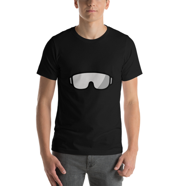 Emoji T-Shirt Store | Goggles emoji t-shirt in Black