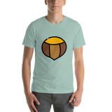 Emoji T-Shirt Store | Chestnut emoji t-shirt in Green