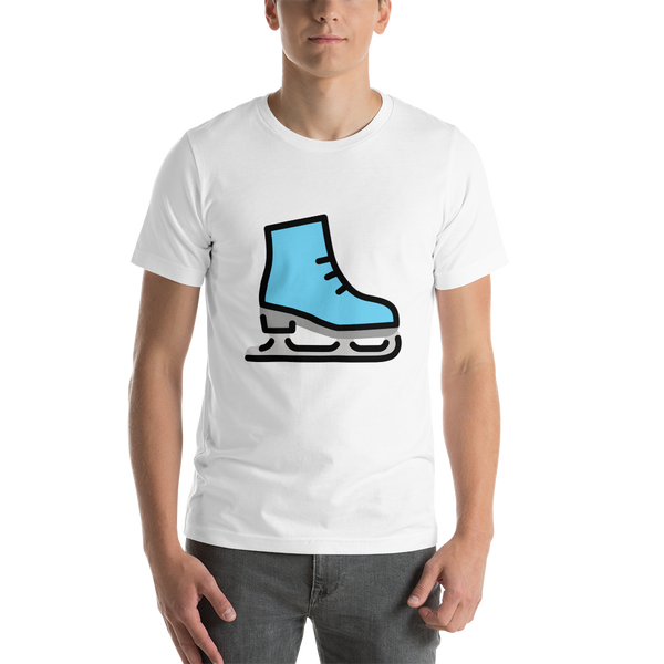 Emoji T-Shirt Store | Ice Skate emoji t-shirt in White