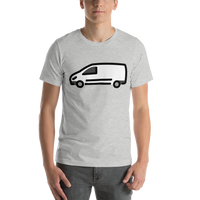 Emoji T-Shirt Store | Delivery Truck emoji t-shirt in Light gray