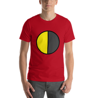 Emoji T-Shirt Store | Last Quarter Moon emoji t-shirt in Red