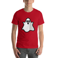 Emoji T-Shirt Store | Ghost emoji t-shirt in Red