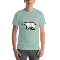 Emoji T-Shirt Store | Polar Bear emoji t-shirt in Green