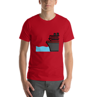 Emoji T-Shirt Store | Ferry emoji t-shirt in Red