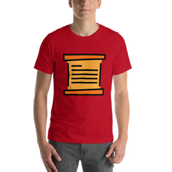 Emoji T-Shirt Store | Scroll emoji t-shirt in Red