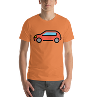 Emoji T-Shirt Store | Automobile emoji t-shirt in Orange