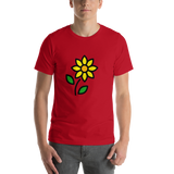 Emoji T-Shirt Store | Sunflower emoji t-shirt in Red