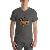 Emoji T-Shirt Store | Deer emoji t-shirt in Dark gray