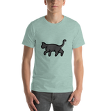 Emoji T-Shirt Store | Black Cat emoji t-shirt in Green