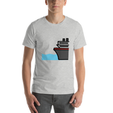 Emoji T-Shirt Store | Ferry emoji t-shirt in Light gray