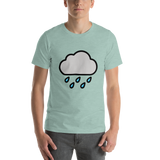 Emoji T-Shirt Store | Cloud With Rain emoji t-shirt in Green