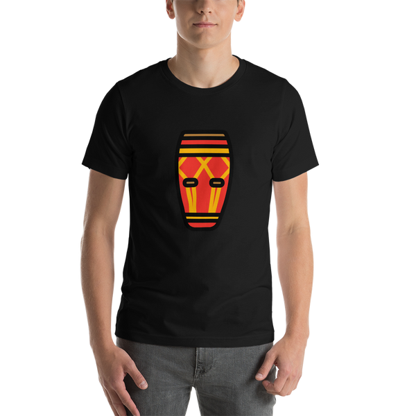 Emoji T-Shirt Store | Long Drum emoji t-shirt in Black