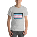 Emoji T-Shirt Store | Transgender Flag emoji t-shirt in Light gray