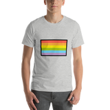 Emoji T-Shirt Store | Rainbow Flag emoji t-shirt in Light gray