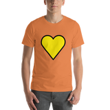 Emoji T-Shirt Store | Yellow Heart emoji t-shirt in Orange