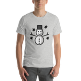 Emoji T-Shirt Store | Snowman emoji t-shirt in Light gray