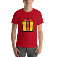 Emoji T-Shirt Store | Wrapped Gift emoji t-shirt in Red