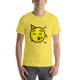 Emoji T-Shirt Store | Partying Face emoji t-shirt in Yellow