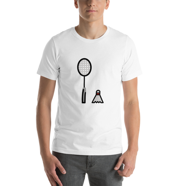 Emoji T-Shirt Store | Badminton emoji t-shirt in White