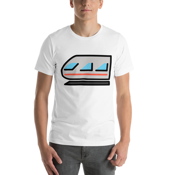 Emoji T-Shirt Store | Light Rail emoji t-shirt in White