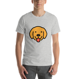 Emoji T-Shirt Store | Dog Face emoji t-shirt in Light gray